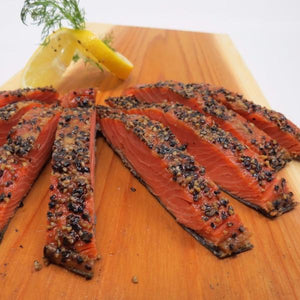 Garlic Pepper Smoked Sockeye Salmon