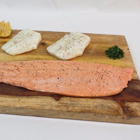 Alaska Sockeye Salmon Fillet & Pacific Cod Loin Case - Wild For Salmon