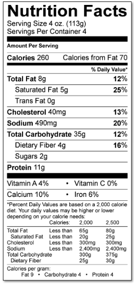 Smoked Salmon Ravioli Nutrition Facts