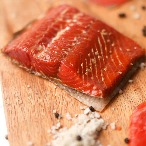 Hickory Smoked Sockeye Salmon 4oz- 4 packs