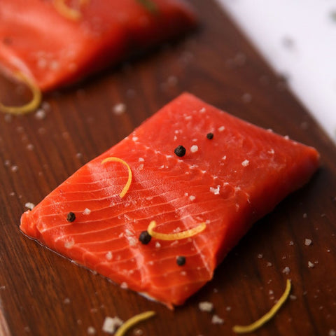 Alaskan Wild Caught Sockeye Salmon Portions