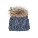 Grey Alpaca with FInlandia Raccoon Fur Tiara Puff