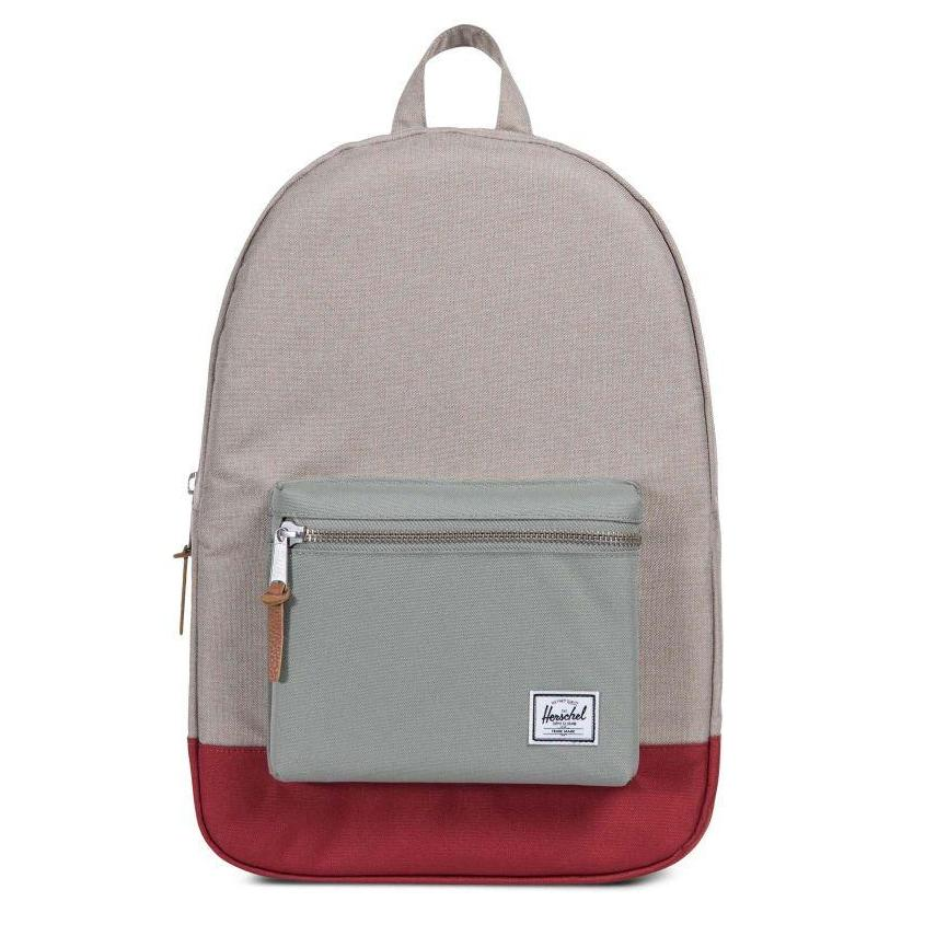 Herschel Settlement Backpack - Light Khaki Crosshatch/Shadow/Brick Red