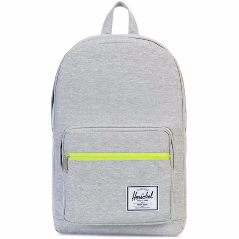 Herschel Pop Quiz Backpack - Light Grey Crosshatch/Acid Lime Zip