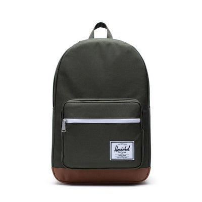 Herschel Pop Quiz Backpack - Dark Olive/Saddle Brown