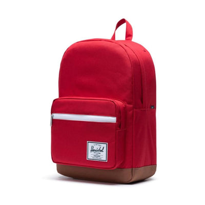 Herschel Pop Quiz Backpack - Red/Saddle Brown