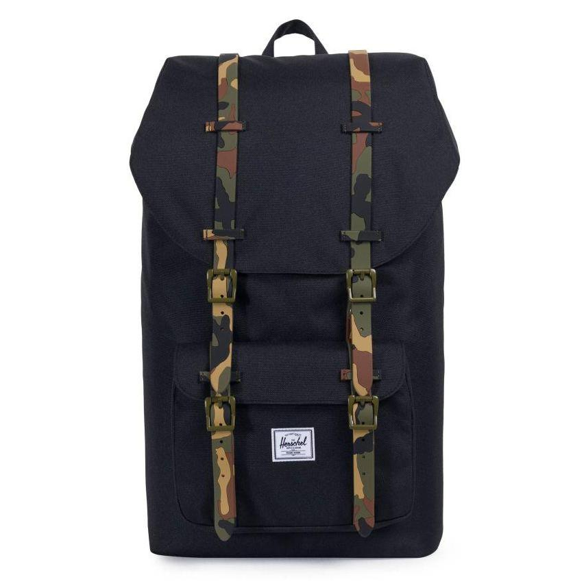 Herschel Little America Backpack - Black/Woodland Camo