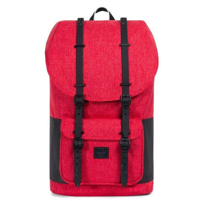 Herschel Little America Backpack - Aspect Collection - Barbados Cherry Crosshatch / Black