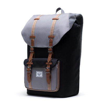 Little America Backpack - Black/Grey/Pine Bark/Tan