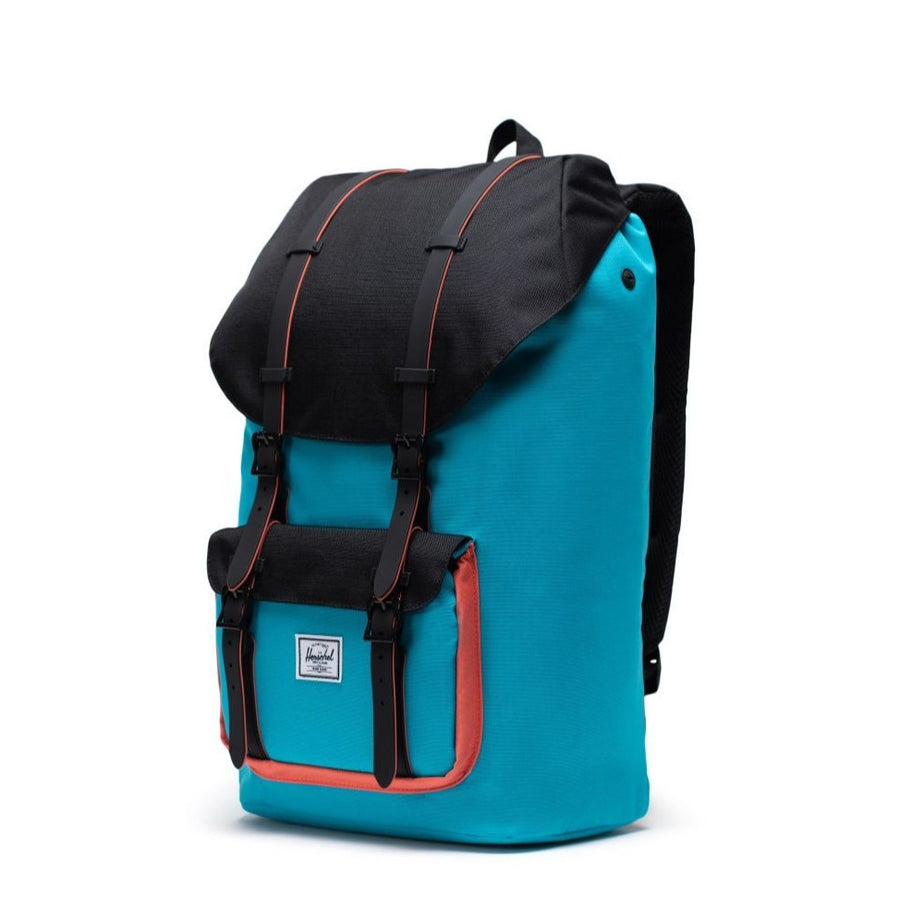 Herschel Little America Backpack -Blue Bird/Black/Emberglow