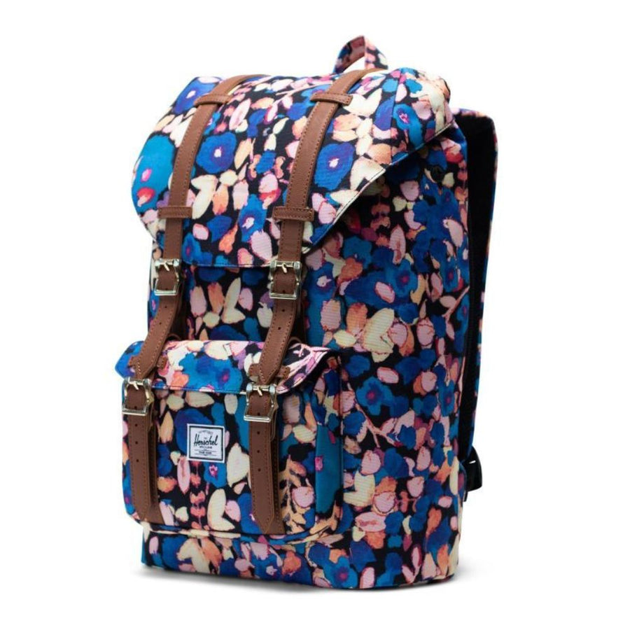 Herschel Little America Mid-Volume Backpack - Painted Floral/Tan