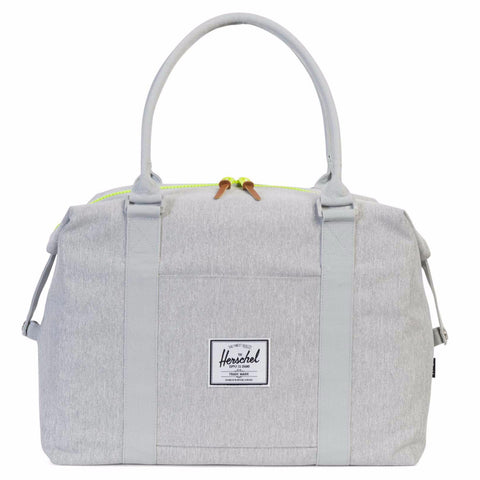 Herschel Strand Duffle - Light Grey Crosshatch/Acid Lime Zip