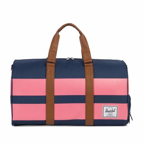 Herschel Novel Duffle - Navy/Strawberry Ice Rugby Stripe