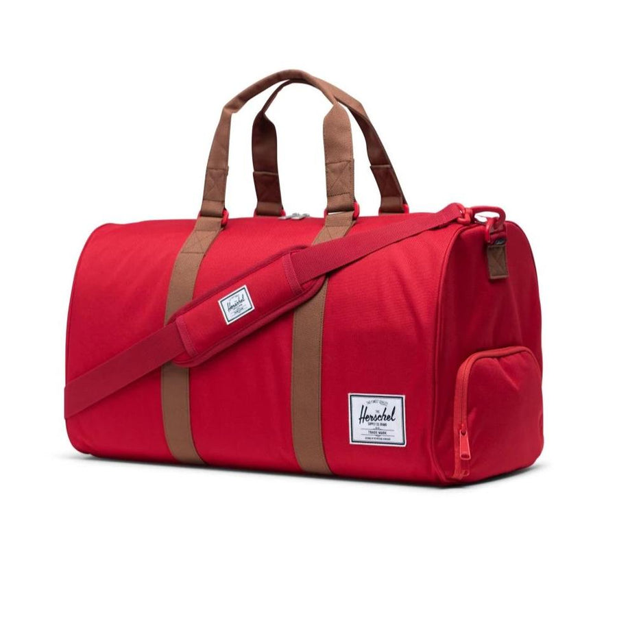 Herschel Novel Duffle - Red/Saddle Brown