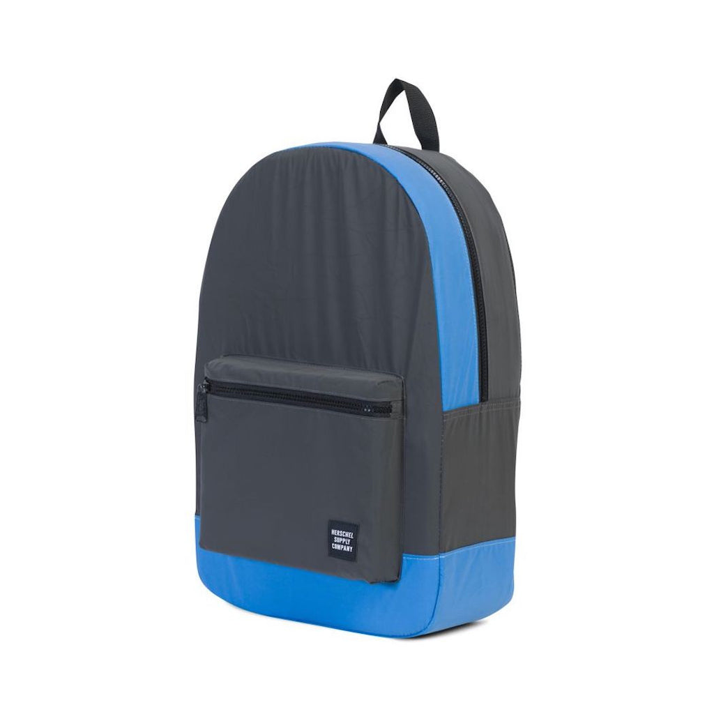 Herschel Packable Daypack - Black/Neon Blue Reflective - Day/Night Collection