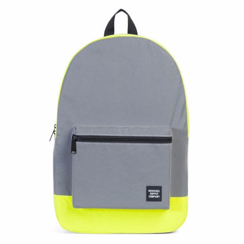 Herschel Packable Daypack - Silver/Neon Yellow Reflective - Day/Night Collection