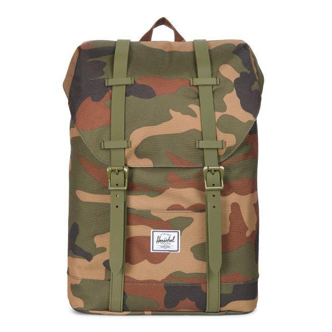 f4f5b2ad7855 Herschel Retreat Youth Backpack - Woodland Camo - Chane