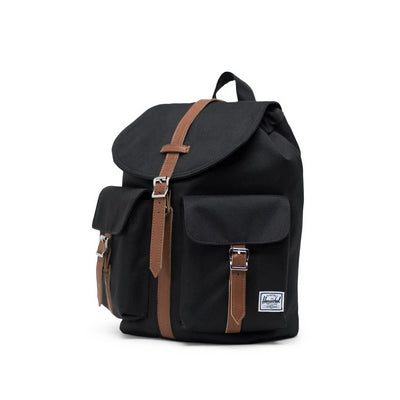 Herschel Dawson Backpack Small - Black/Tan Synthetic Leather