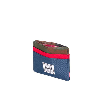 Herschel Charlie Wallet - Navy/Woodland Camo/Red
