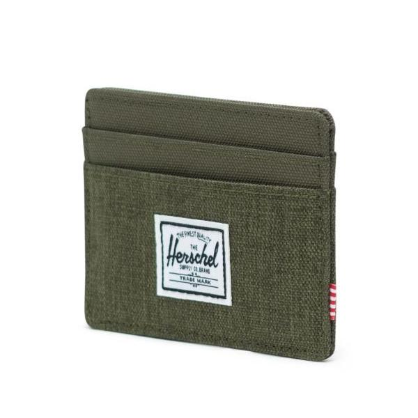 Herschel Charlie Wallet - Olive Night Crosshatch
