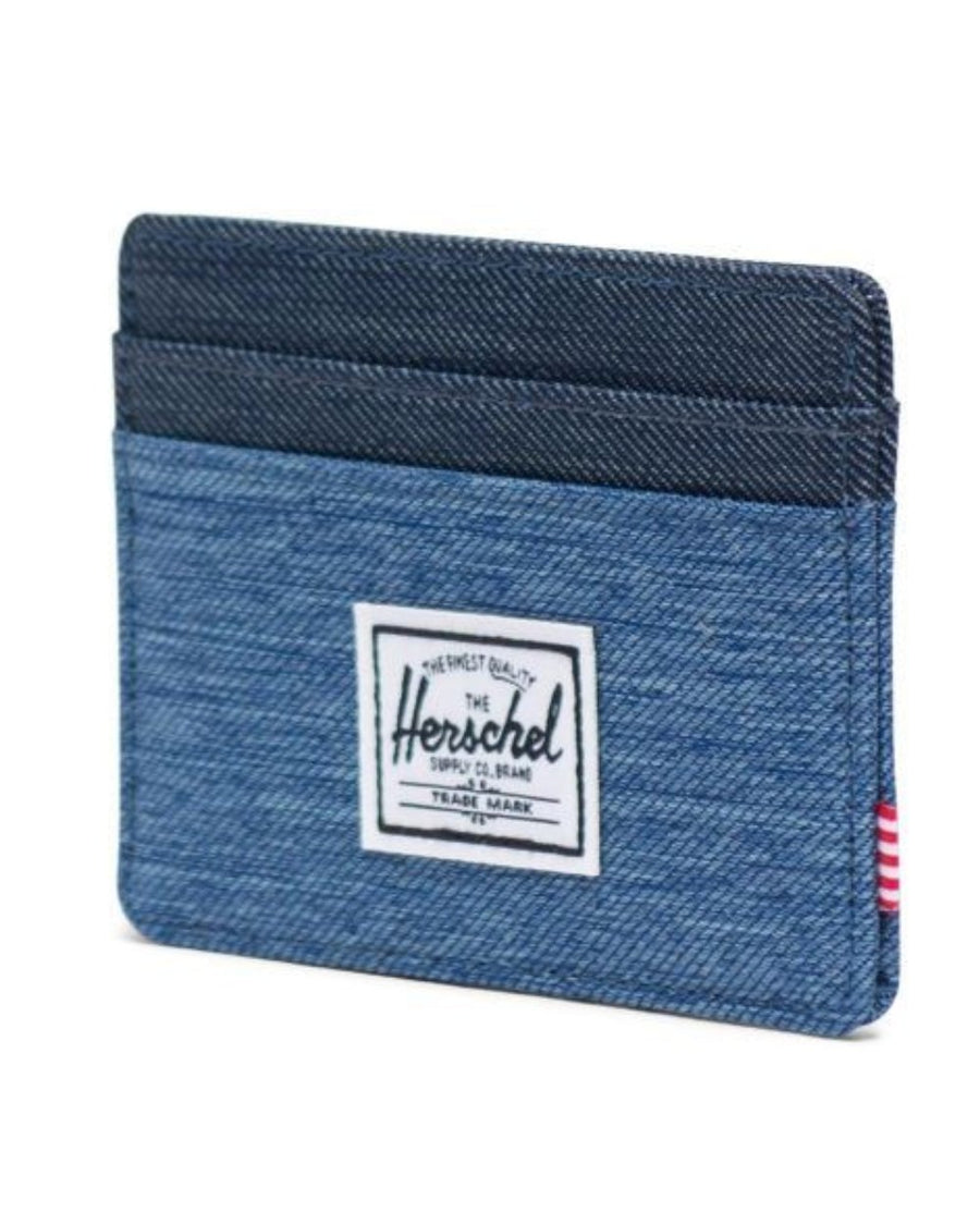 Herschel Charlie Wallet - Faded Denim/Indigo Denim