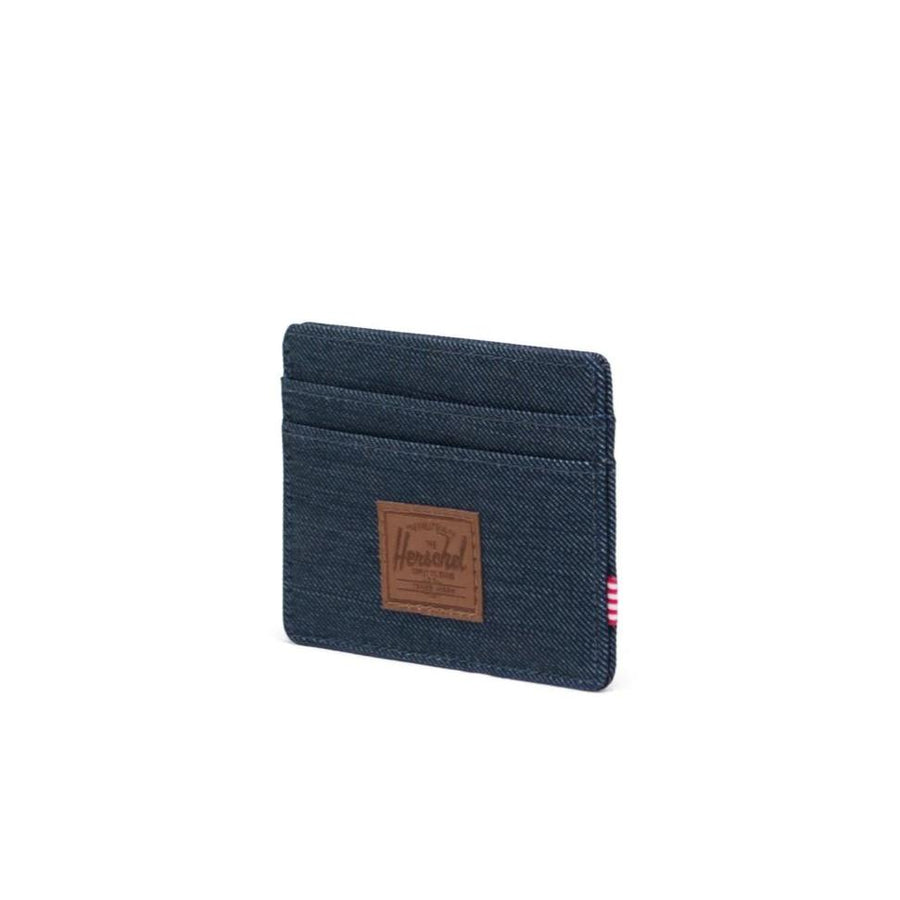 Herschel Charlie Wallet - Indigo Denim/Saddle Brown