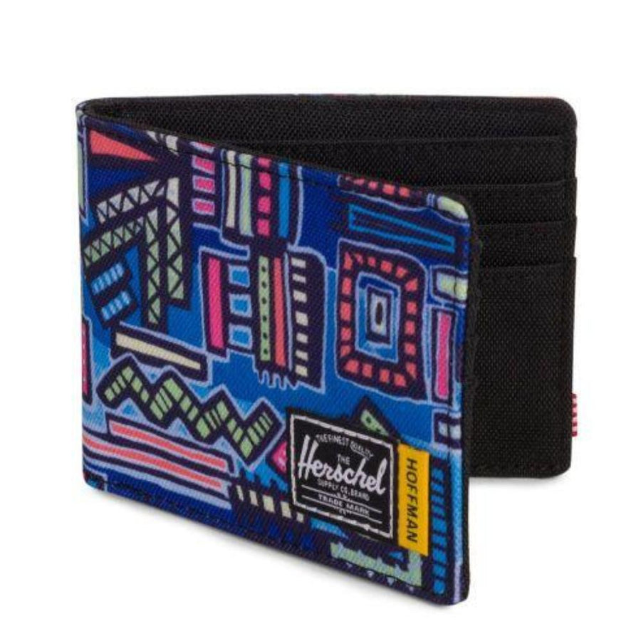 Herschel Roy Wallet - Hoffman Collection - Abstract Geo Blue