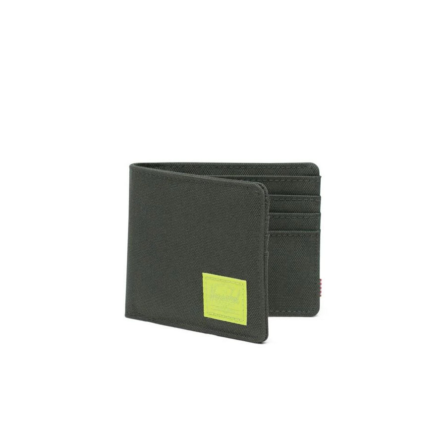 Herschel Roy Wallet - Dark Olive/Lime Green