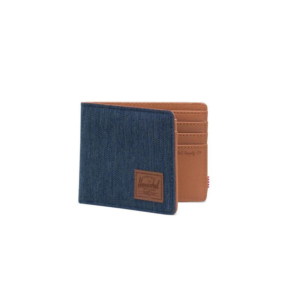 Herschel Hank Wallet - Indigo Denim Crosshatch/Saddle Brown