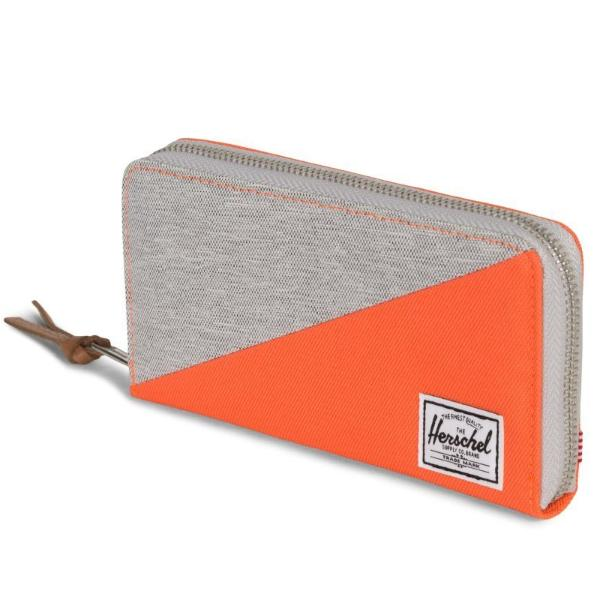 Herschel Thomas Wallet - Light Grey Crosshatch / Vermillion Orange