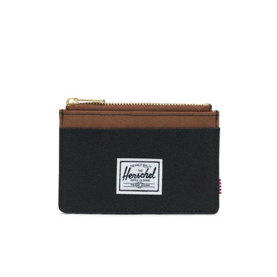 Herschel Oscar Wallet - Black/Saddle Brown