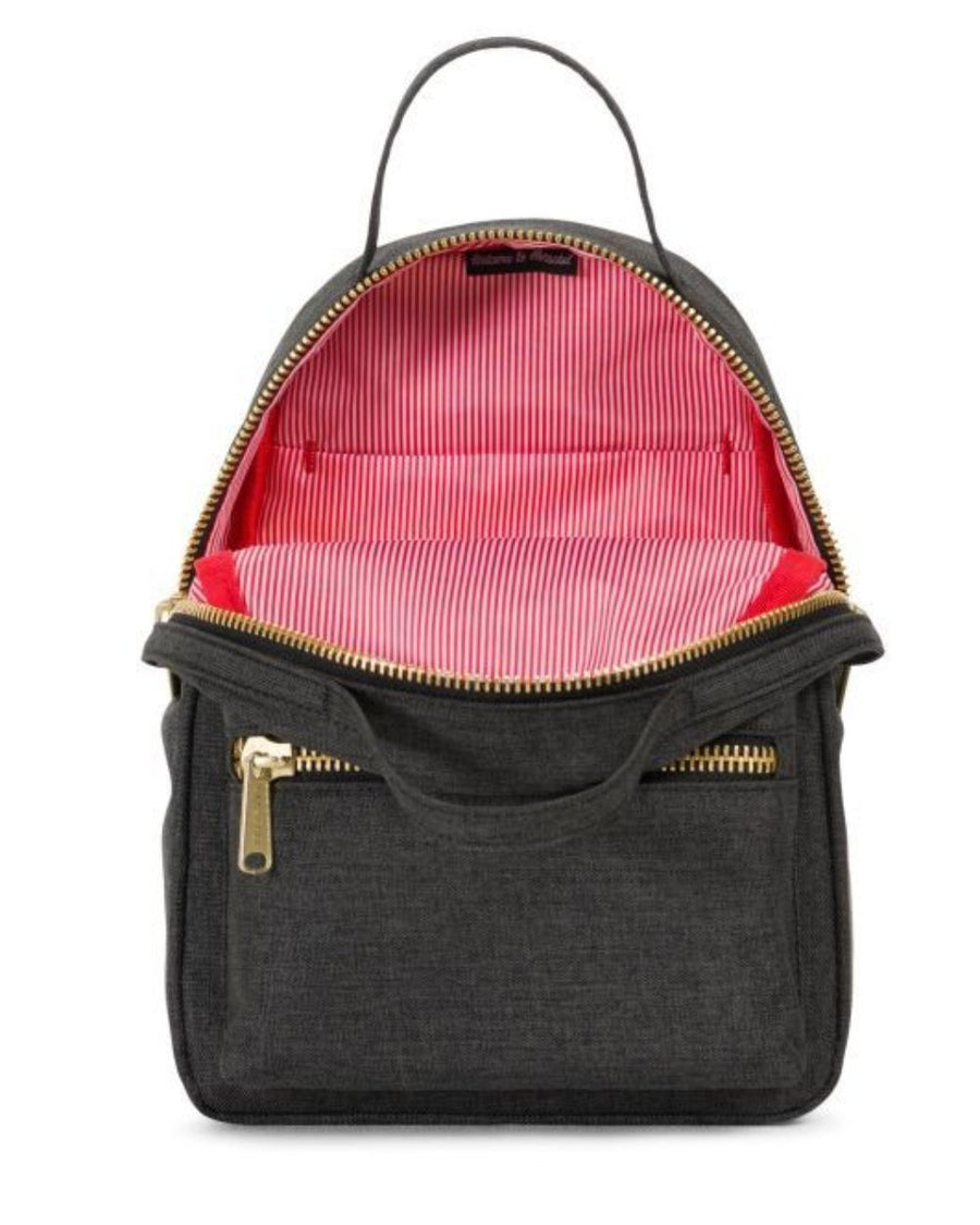 Herschel Nova Mini - Black Crosshatch