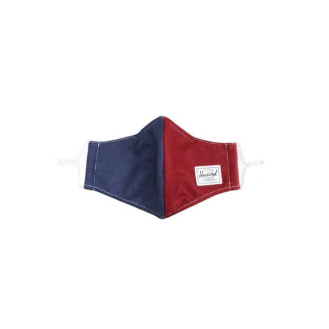 Herschel Classic Fitted Face Mask - Navy/Red