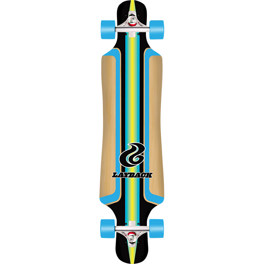 Layback Finish Line Bamboo Complete Longboard
