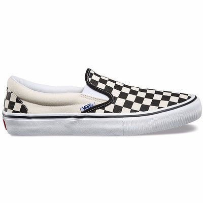Vans Slip-On Pro - (Checkerboard) Black/White
