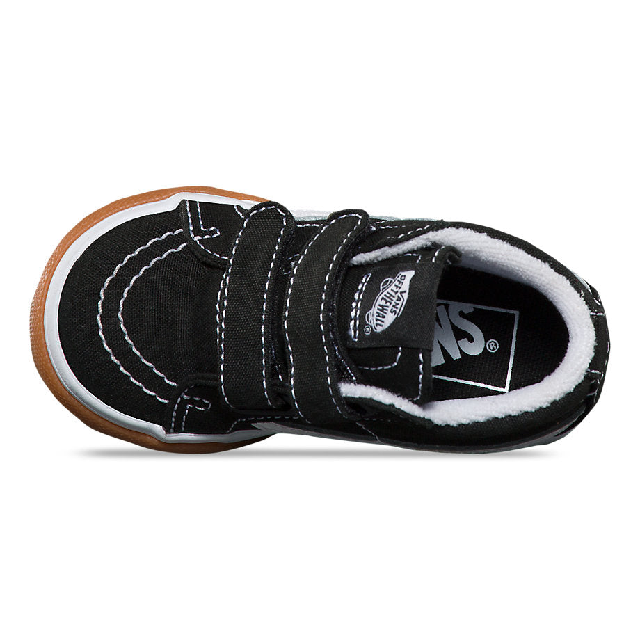 Vans Toddler Sk8-Mid Reissue (Gum Bumper) - Black/White
