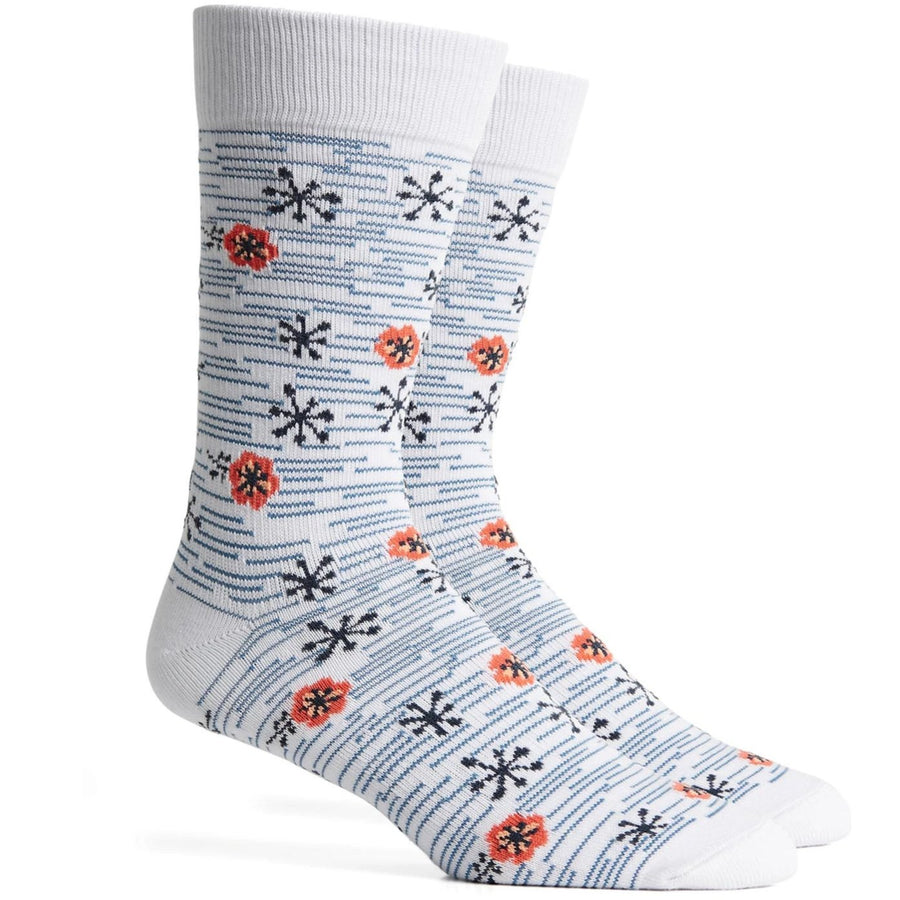 Richer Poorer Nifty Blue Socks - Bright White