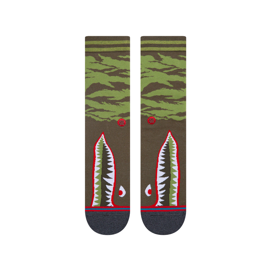 Stance Warbird Light Cushion Crew Socks - Olive