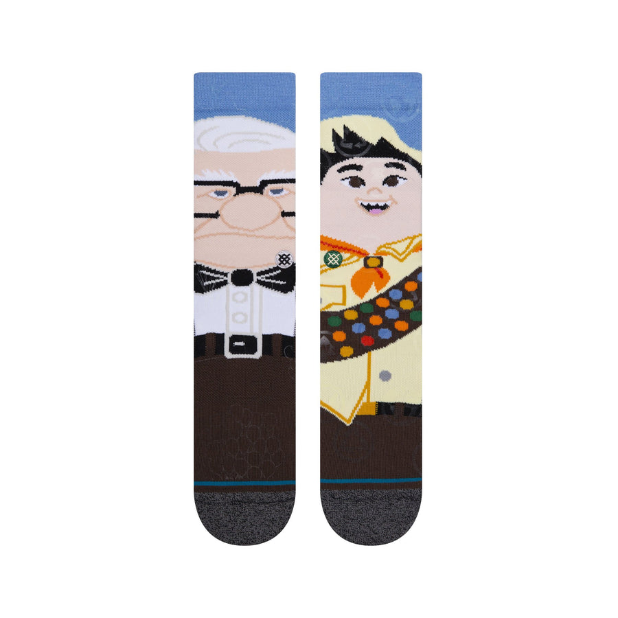 "Stance X Pixar Crew Socks - ""Up"" - Wilderness Explorer"