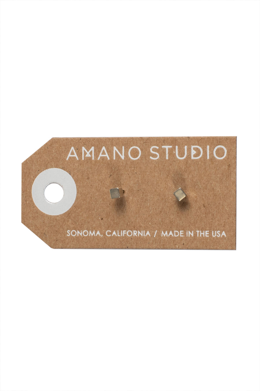 "Amano Studio Cube 1/8"" Stud Earrings"