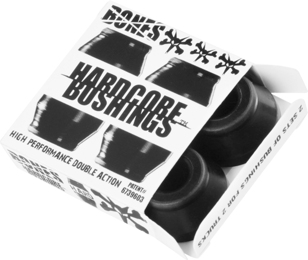Bones Hardcore Bushings 4pc Hard Black