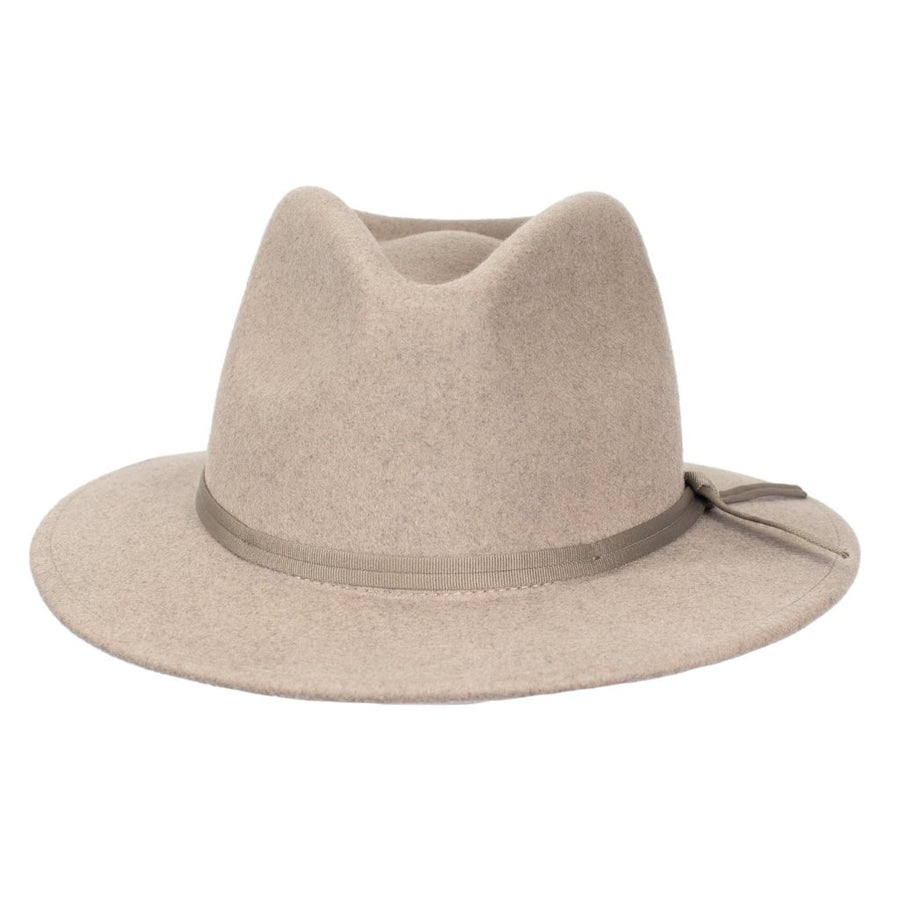 Brixton Coleman Fedora - Heather Natural