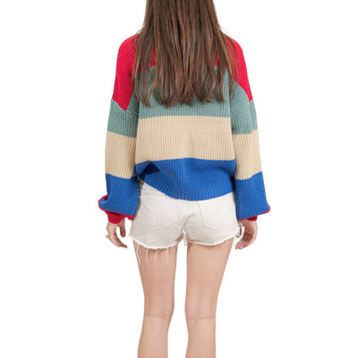 Brixton Madero Sweater - Rose Red