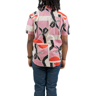 Brixton Charter Print SS Woven - Pink/Red