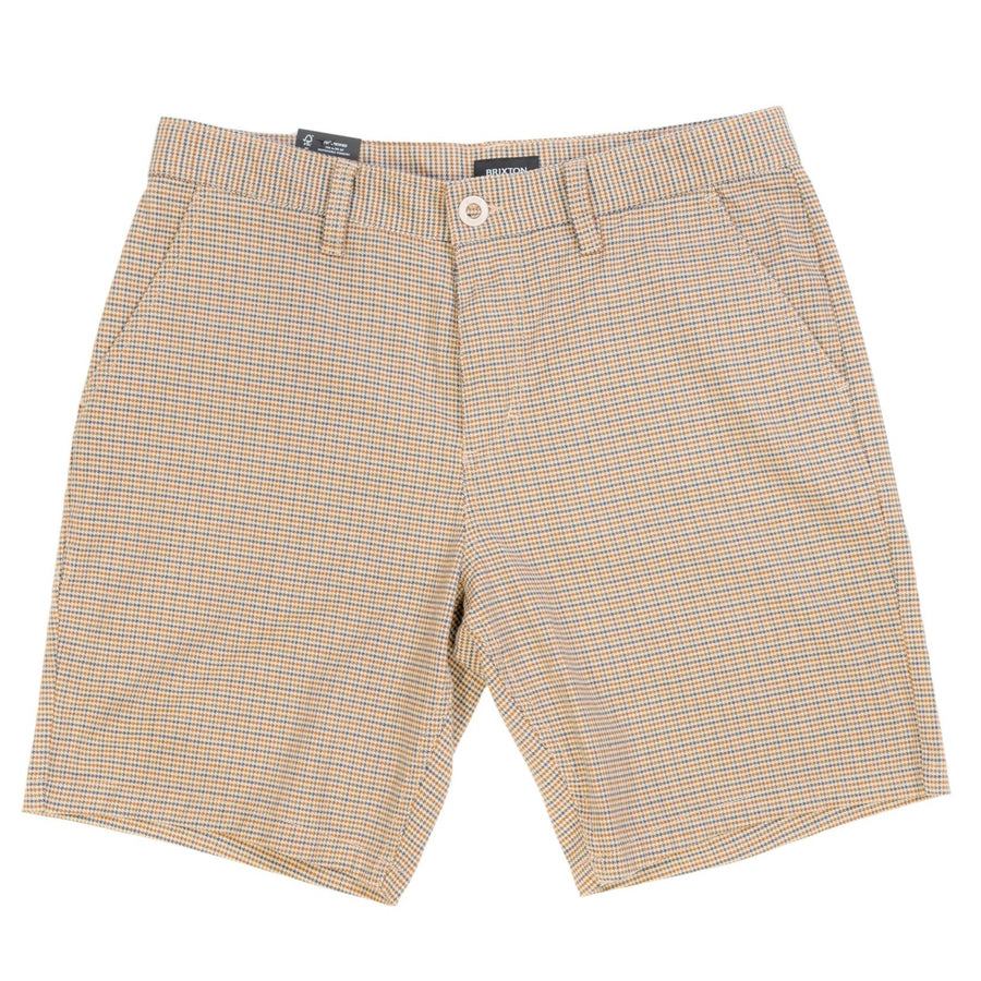 Brixton Choice Chino Short - Vanilla Houndstooth