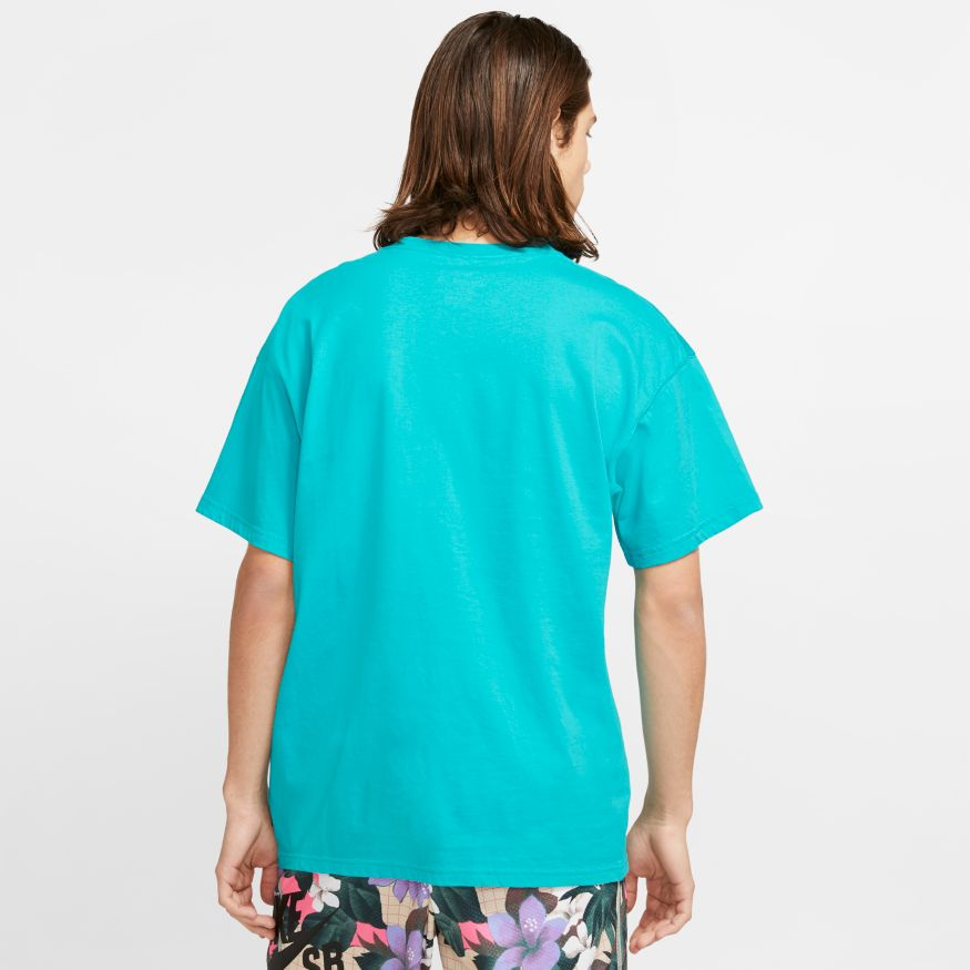 Nike SB Men's Logo Skate Tee - Oracle Aqua/Light Thistle