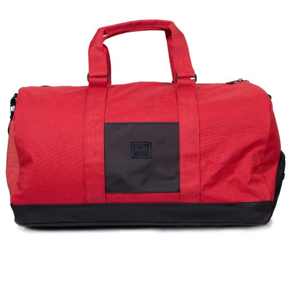 02fe8fa8cc8d Herschel Novel Duffle - Barbados Cherry Crosshatch Black - Aspect Collection