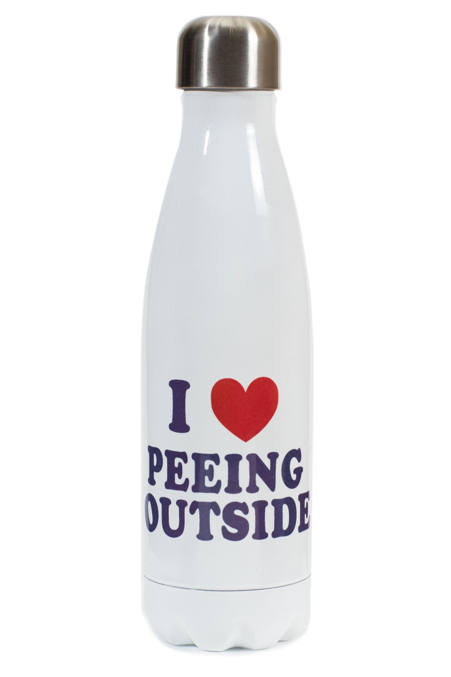 I Heart Peeing Outside Water Bottle
