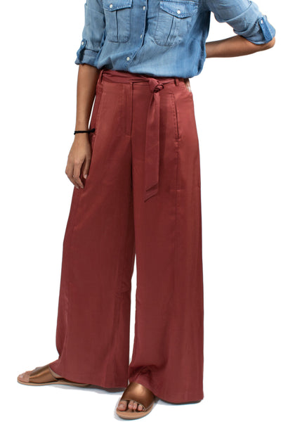 Native Youth Wide Leg Flora Pant - Red