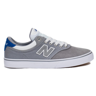 New Balance Numeric 255 - Grey with Royal Blue (GWR)